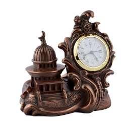 Часы настольные мечеть 12х12,5х7,5 см под бронзу