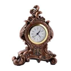 Часы настольные каминные цветы 17х13,5х6 см под бронзу