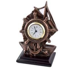 годинники настільні Вітрильник латунні, 16см