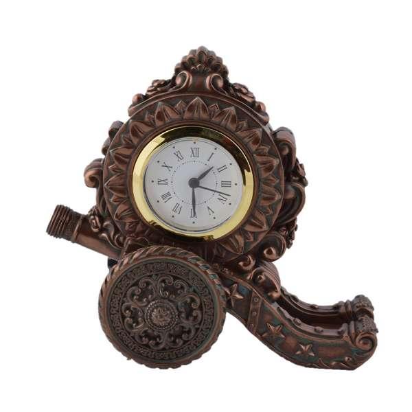 часы настольные Пушка латунные, 16см