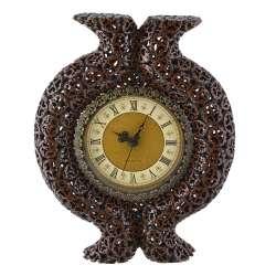 годинники настінні круглі з горіховий зріз з виступом, 39см