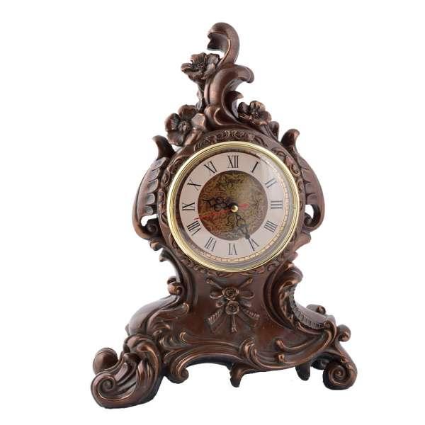 часы настольные Цветы латунные, 30см