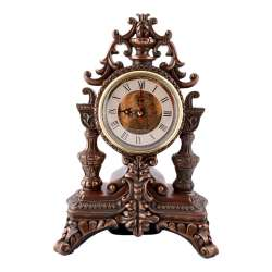 Часы настольные каминные корона 31х21х15 см под бронзу
