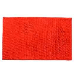 Килимок для ванної мікрофібра прогумована основа 50х80 см червоний