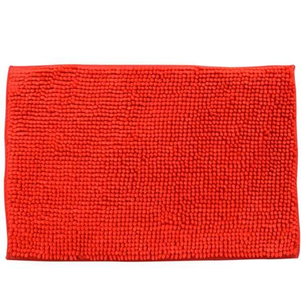 Килимок для ванної мікрофібра прогумована основа 40х60 см червоний