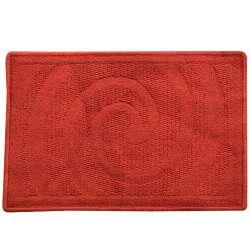 Килимок для ванної прогумована основа 40х60 см червоний темний