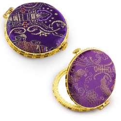 Дзеркало косметичне кругле в китайському стилі 8см фіолетове