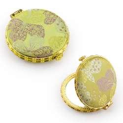 Дзеркало косметичне кругле в китайському стилі 8см салатне, 8см
