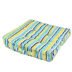 Подушка для стульев 40х40 см в полоску черную желтую голубую