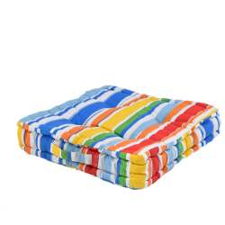 Подушка для стульев 40х40 см в полоску красную белую голубую