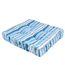 Подушка для стульев 40х40 см в полоску синюю голубую белую