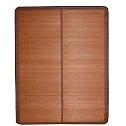 Покривало циновка бамбук 150х195 см розкладне не лакованої коричневе