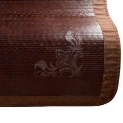 Покривало циновка бамбук 180х200 см темно-коричневе з вензелем