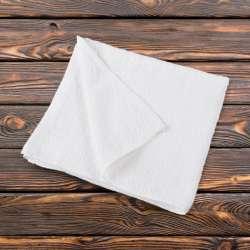 Полотенце махровое белое 50х110 см