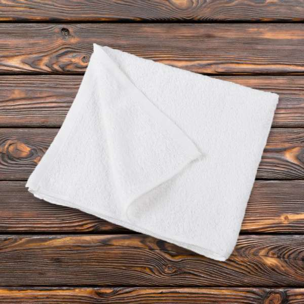Рушник махровий біле 50х110 см