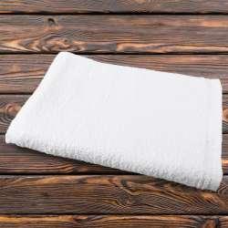 Полотенце махровое белое 80х146 см