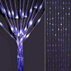 Штора декоративная пластик спираль с бусинками 80х175 см фиолетовая