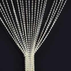 Штора декоративна пластик дрібні намистинки 80х175 см біла