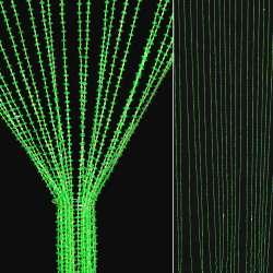 Штора декоративна пластик дрібні намистинки 80х175 см зелена