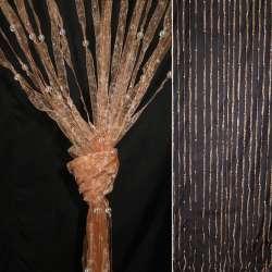 Штора декоративна з капронової тасьми 80х175 см персикова