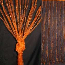 Штора декоративна з капронової тасьми 80х175 см помаранчева