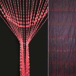 Штора декоративна пластик крапля 80х175 см рожева