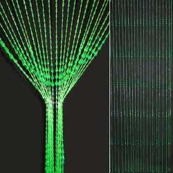 Штора декоративна пластик крапля 80х175 см зелена