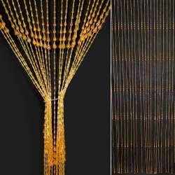 Штора декоративна пластик крапля 80х175 см помаранчева