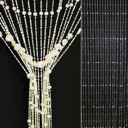 штора декор.пластиковая белая с прямоугольниками, 80см
