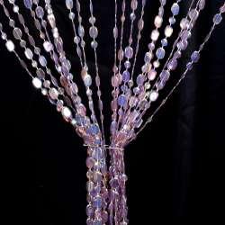 Штора декоративна пластик копійка 180х80 см фіолетова