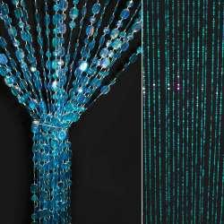 Штора декоративна пластик копійка 180х80 см морська хвиля