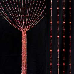 Штора декоративна пластик гранована кулька 80х175 см хамелеон золотисто-червона