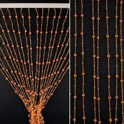 Штора декоративна пластик гранована кулька  80х175 см оранжева темна