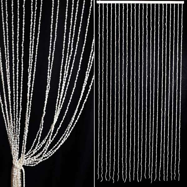 штора декоративная из ракушек, ш.80 см
