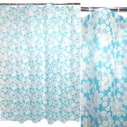 штора д / ванни блакитна з білими ромашками, 170х180