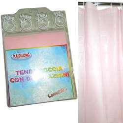 штора для ванной комнаты розовая, 180х180