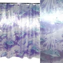 штора д / ванни бузкова з дельфінами, 180х180