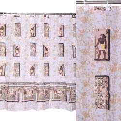 Шторка для ванної Єгипет 178х183 см бежево-коричнева