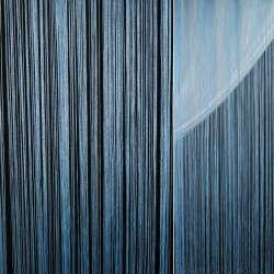 Штора ниточная 300 х 290 см голубая (вес 0,865 кг)