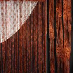 Штора ниточная вензель 290х280 см коричневая
