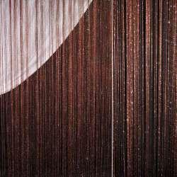 Штора ниточная с серебристым люрексом 315х300 см коричневая
