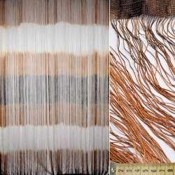 Штора ниточная радуга горизонтальная 310х290 см коричнево-рыже-белая (вес 1,140 кг)