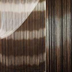 Штора ниточная радуга горизонтальная 310х290 см бежево-коричневая (вес 1,140 кг)