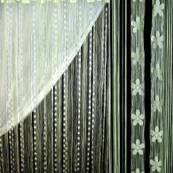 Шторы ниточные провисы с цветами 300х300 см зеленые