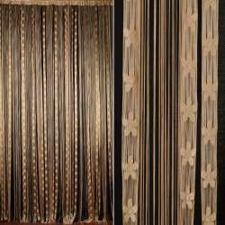 Шторы ниточные провисы с цветами 300х300 см бежевые
