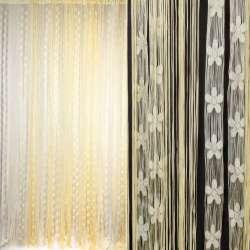Штора ниткова з квітами 300х300 см кремові