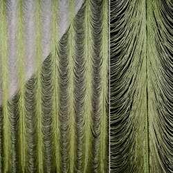 Штора ниточная с провисами 460х360 см зеленая (вес 3,00 кг)