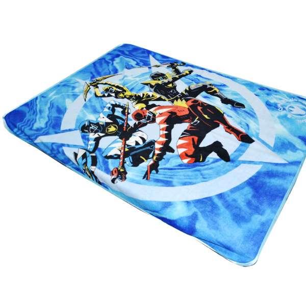 Плед флисовый 130х170 см с космическими воинами голубой