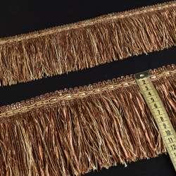 бахрома коричнева з атлас. стрічкою (в.825г)