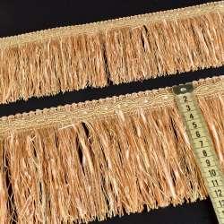 бахрома бежево-персик. з атласною стрічкою (в.825г)